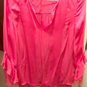 Elie Tahari pink blouse size small (never worn)